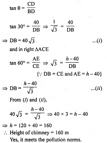 RD Sharma Class 10 Solutions Chapter 12 Heights and Distances Ex 12.1 - 41a