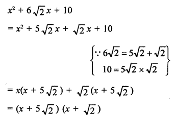 RD Sharma Class 9 Book Chapter 5 Factorisation of Algebraic Expressions