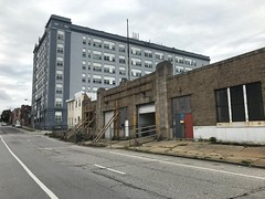 Stabilization in process, Former Post Office Garage building, 439-441 E. Preston Street, Baltimore, MD 21202