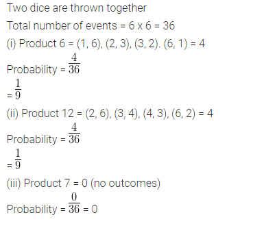 ML Aggarwal Class 10 Solutions for ICSE Maths Chapter 24 Probability Chapter Test 17