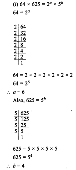 Selina Concise Maths class 7 ICSE Solutions - Exponents (Including Laws of Exponents)-10a