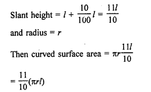 Maths RD Sharma Class 9 Chapter 20 Surface Areas and Volume of A Right Circular Cone