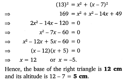 NCERT Solutions for Class 10 Maths Chapter 4 Quadratic Equations 10