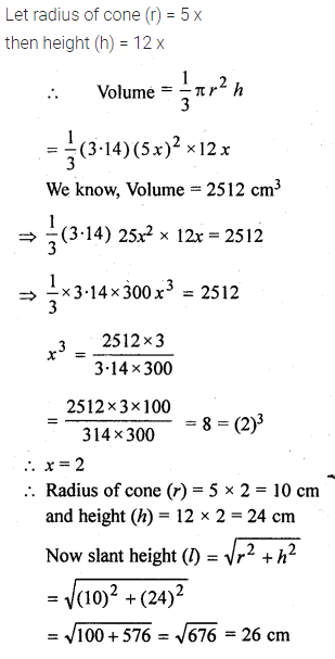 ML Aggarwal Class 10 Solutions for ICSE Maths Chapter 18 Mensuration Chapter Test 10