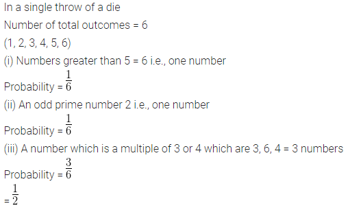 ML Aggarwal Class 10 Solutions for ICSE Maths Chapter 24 Probability Chapter Test 2