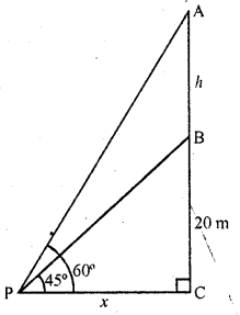 RD Sharma Class 10 Solutions Chapter 12 Heights and Distances Ex 12.1 - 24