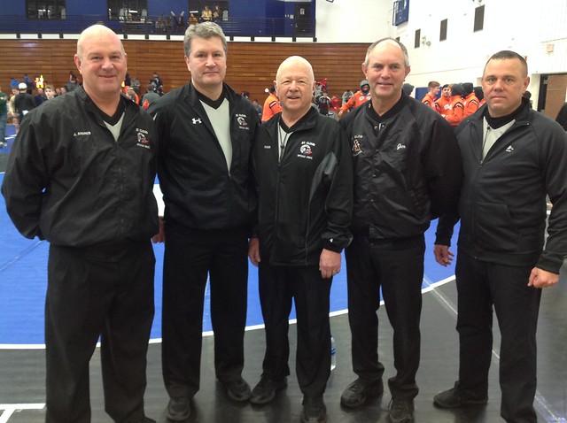 Officials: Jim Andres, Jim Lynch, Roger Wilson, Jim Repke and Tom Ernst