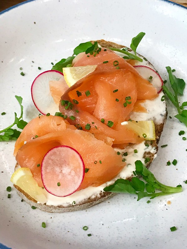 Håakon Smørrebrød: Smoked Salmon and Cream Cheese