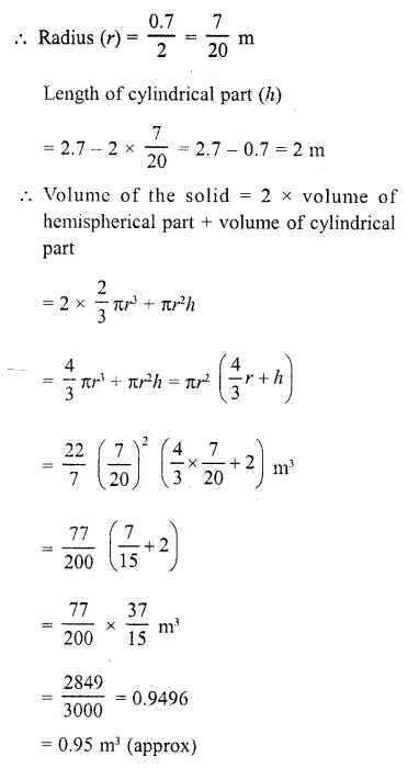 RD Sharma Class 10 Solutions Chapter 14 Surface Areas and Volumes  RV 49a