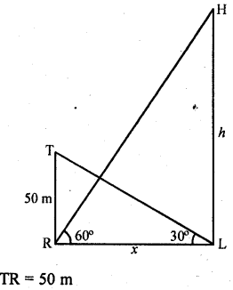 RD Sharma Class 10 Solutions Chapter 12 Heights and Distances Ex 12.1 - 55