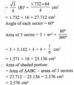 RD Sharma Class 10 Solutions Chapter 13 Areas Related to Circles Ex 13.4 - 50aa