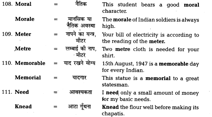 UP Board Solutions for Class 11 English Vocabulary Chapter 7 Homophones 27