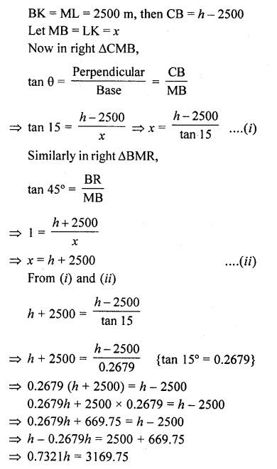 RD Sharma Class 10 Solutions Chapter 12 Heights and Distances Ex 12.1 - 66a