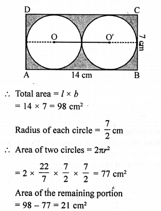 RD Sharma Class 10 Solutions Chapter 13 Areas Related to Circles Ex 13.4 - 34