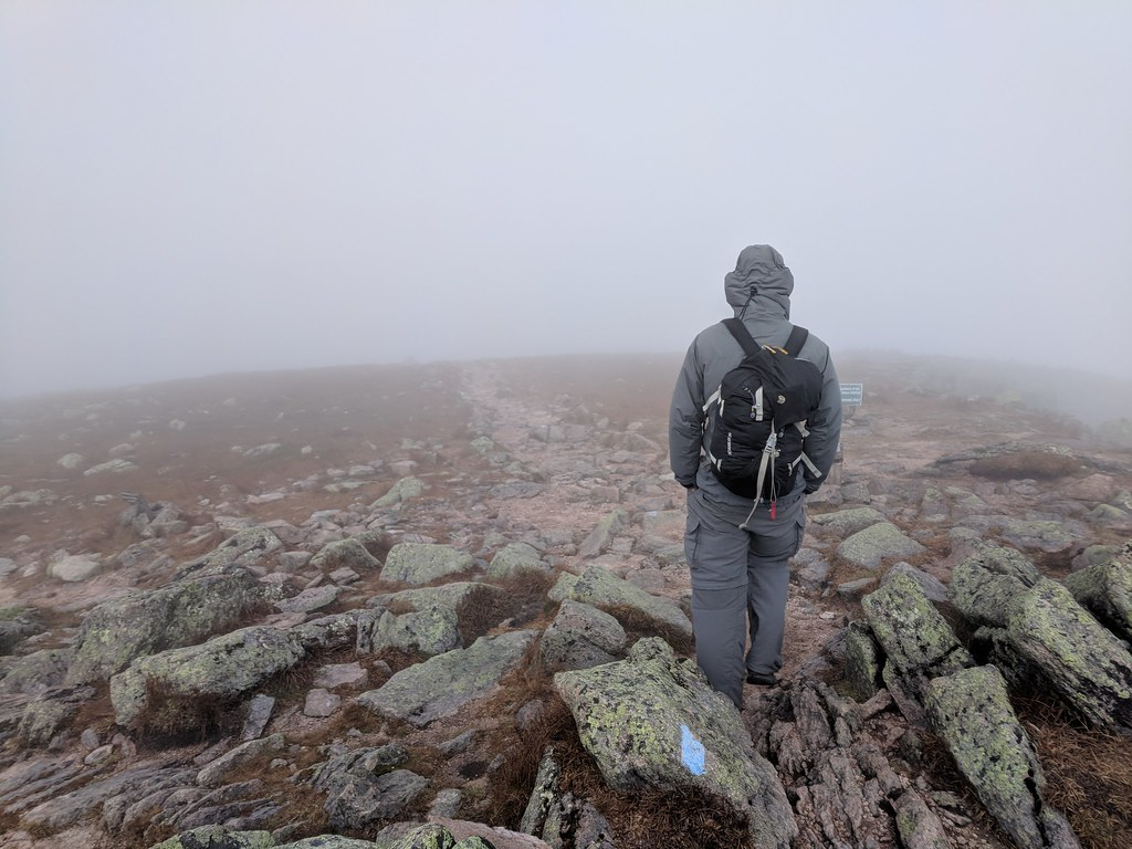 Descending Mount Katahdin
