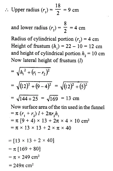 RD Sharma Class 10 Solutions Chapter 14 Surface Areas and Volumes  RV 65a