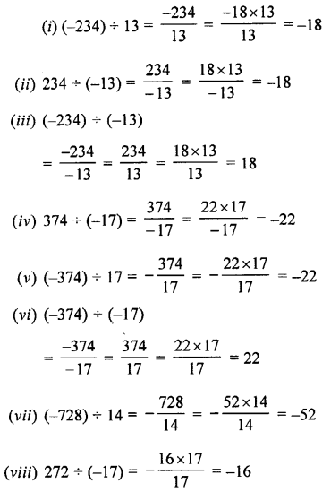 Selina Concise Maths class 7 ICSE Solutions - Integers-2b