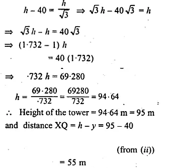ML Aggarwal Class 10 Solutions for ICSE Maths Chapter 21 Heights and Distances Chapter Test 6A