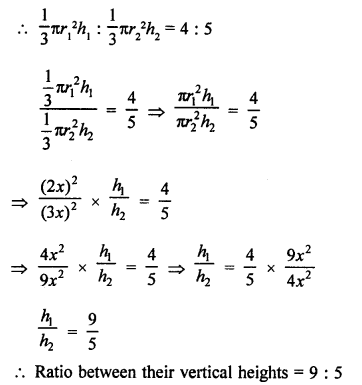 Class 9 RD Sharma Solutions Chapter 20 Surface Areas and Volume of A Right Circular Cone