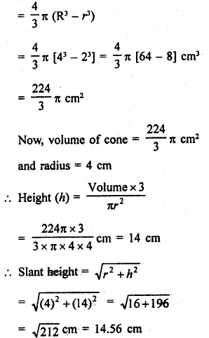 RD Sharma Class 9 Solutions Chapter 21 Surface Areas and Volume of a Sphere Ex 21.2 17