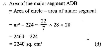 RD Sharma Class 10 Solutions Chapter 13 Areas Related to Circles MCQS -42a