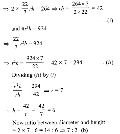 RD Sharma Class 10 Solutions Chapter 14 Surface Areas and Volumes MCQS 18