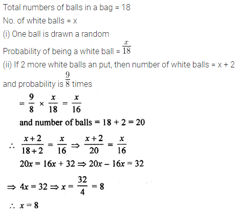 ML Aggarwal Class 10 Solutions for ICSE Maths Chapter 24 Probability Chapter Test 13