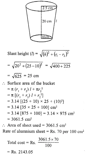 RD Sharma Class 10 Solutions Chapter 14 Surface Areas and Volumes Ex 14.3 13
