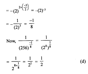 RD Sharma Class 9 Solutions Chapter 2 Exponents of Real Numbers MCQS - 29b