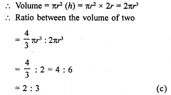 RD Sharma Class 9 Solutions Chapter 21 Surface Areas and Volume of a Sphere MCQS 13