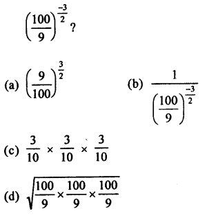RD Sharma Class 9 Solutions Chapter 2 Exponents of Real Numbers MCQS - 13