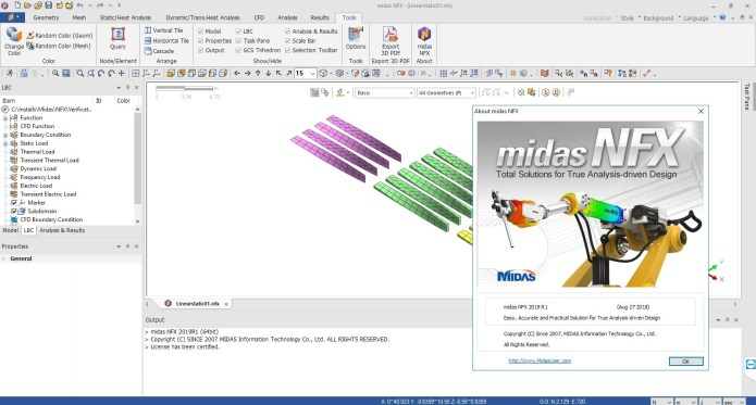Working with midas NFX 2019 R1 (build 20180827) Win32 win64 full license