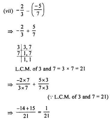 Selina Concise Mathematics class 7 ICSE Solutions - Rational Numbers-e1............