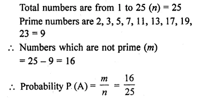 Answers Of RD Sharma Class 10 Chapter 13 Probability