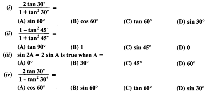 NCERT Solutions for Class 10 Maths Chapter 8 Introduction to Trigonometry Ex 8.2 Q2
