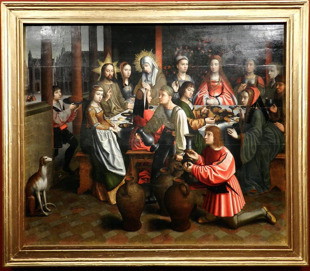 Bodas de Canaá del taller de Gerard David pintura Museo Catedral de Plasencia Caceres
