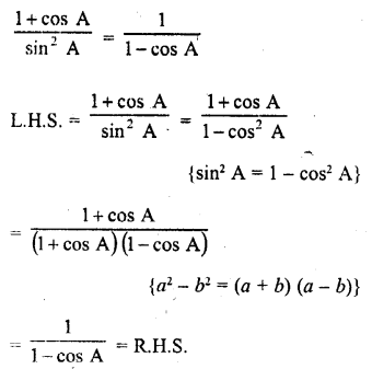 RD Sharma Class 10 Solutions Chapter 11 Trigonometric Identities Ex 11.1 - 34a