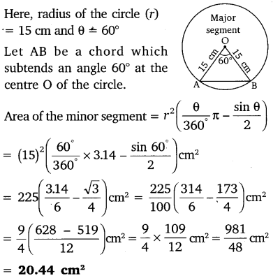 NCERT Solutions for Class 10 Maths Chapter 12 Areas Related to Circles 12