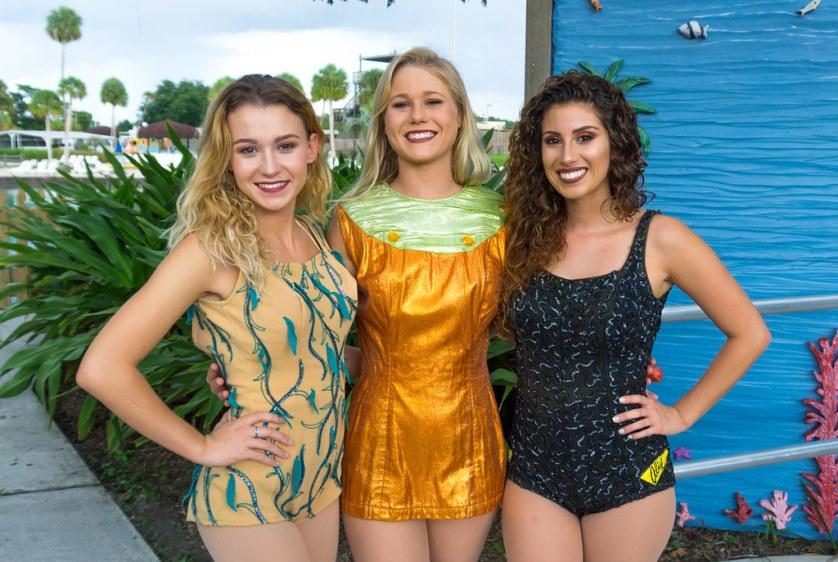 The Mermaids of Today, Including Mermaid Kelley (Left), Wearing Vintage Weeki Wachee Costumes, Weeki Wachee Springs State Park, Weeki Wachee, Fla., Sept. 2018.