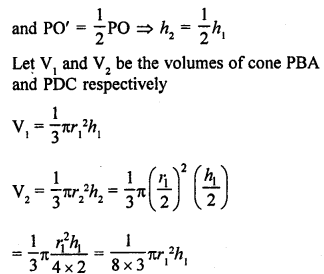 RD Sharma Class 9 Solutions Surface Area and Volume of A