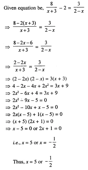 Selina Concise Mathematics Class 10 ICSE Solutions Chapterwise Revision Exercise 21A