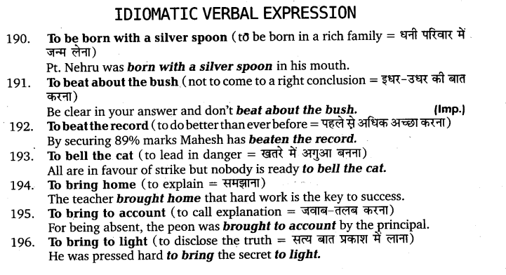 UP Board Solutions for Class 11 English Vocabulary Chapter 9 Idioms and Phrases 27