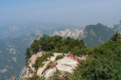Just arrived the west peak @ Mountain Huashan 華山