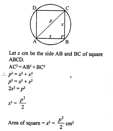 RD Sharma Class 10 Solutions Chapter 13 Areas Related to Circles VSAQS - 16