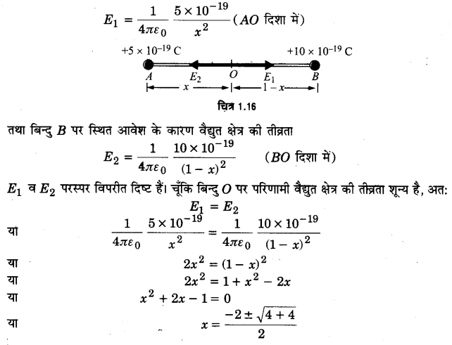 UP Board Solutions for Class 12 Physics Chapter 1 Electric Charges and Fields SAQ 3