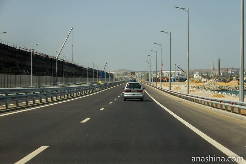Строительство Крымского моста в Керчи, Крым