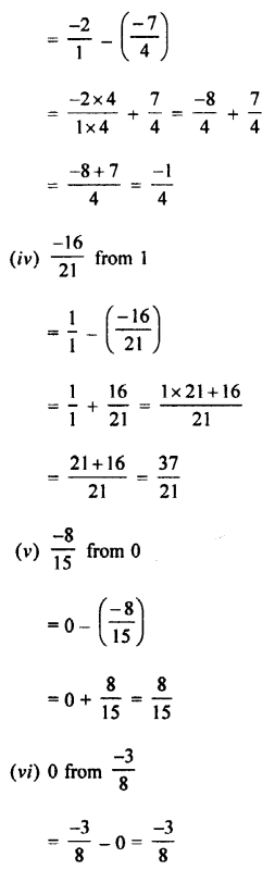 Selina Concise Mathematics class 7 ICSE Solutions - Rational Numbers-c6....