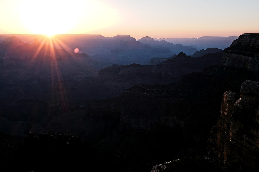 grand canyon, sunrise, fujifilm, x100T