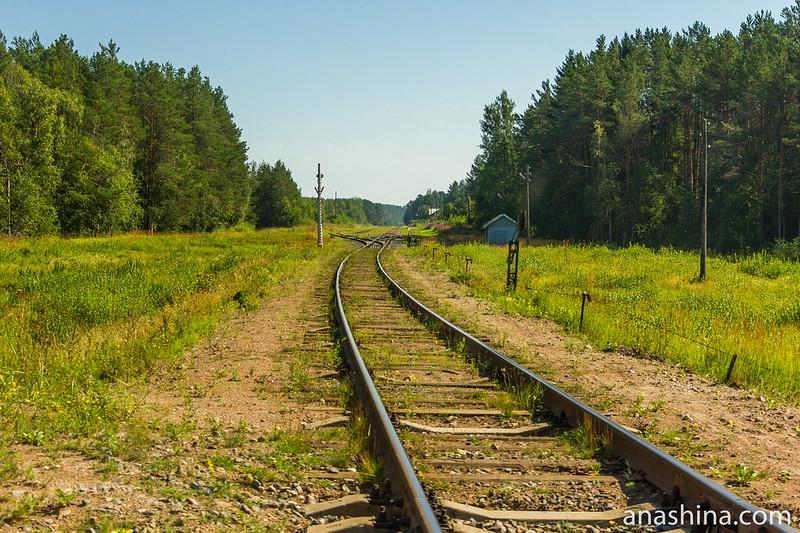 Одкоколейка и разъезд на станции 150-й км, Карелия