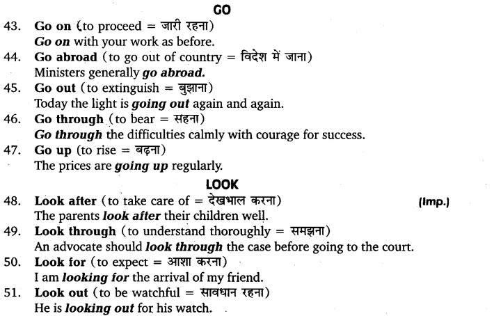 UP Board Solutions for Class 11 English Vocabulary Chapter 9 Idioms and Phrases 43
